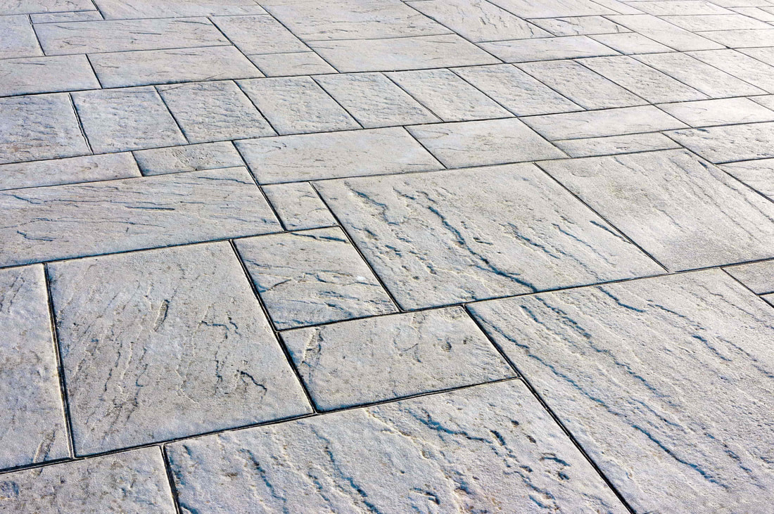 This photo shows stamped concrete which was used for a patio project in Walnut Grove.